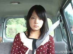 Mikako Abe gets her snatch toyed and fucked in a car