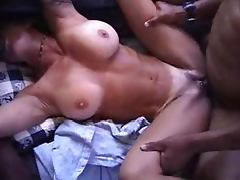 Big Tits Brunette Picked Up By Two BBC With Huge Facials
