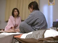 Mio Takahashi the sexy housewife gives hot titjob