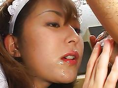 Boss, Asian, Blowjob, Boss, Brunette, Couple