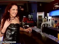 Dark haired cutie Gail has terrific anal sex with a barman
