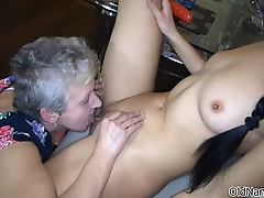 Dirty mature lesbian goes crazy licking part2
