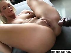 Mandingo destroys blonde pussy of Emily Austin