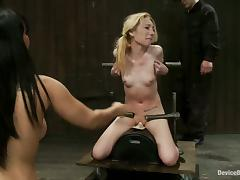 Blonde Isis Love Forced To Suck Cock and Eat Pussy in BDSM Vid
