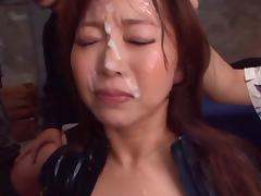 Mature Babe Kaori Sucks Dick For A Big Bukkake Facial