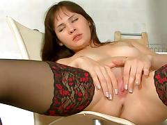 Brunette Jasha is demonstrating her nice booty