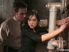 Sasha Grey loves being tortured and fucked in terrific BDSM clip porn video