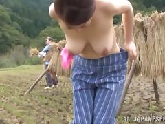 Ayano Murasaki the mature Japanese gets fucked outdoors porn video