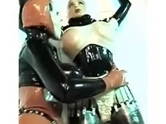 Rubber, Latex, Lesbian, Rubber, Strapon, Lesbian Strapon