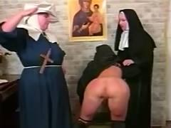 Depraved lesbo nuns S M style