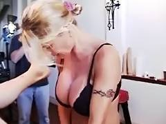 Greman Domme Lisa Berlin bonks serf with a Bull Belt on