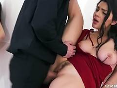 Curvy tango dancer seduces a married boy friend during their lesson