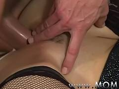 MOMMY lewd housewife is in the mood for fucking