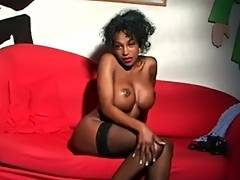 Felina the ebony hot slut showing off her body