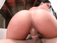 Sex addict brunette MILF getting her peachy juicy cunt nailed hardcore