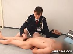 Police woman forcing her prisoner to lick her wet cunt porn video
