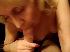 Great blowjob by Russian mature mother