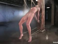 Babe with Great Ass Gets Bondage and Water Torture