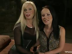 Blond Shemale Joanna Jet Fucking Katie St Ives' Pussy Hard