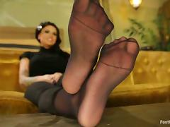 Hot Christy Mack gives nice footjob and rides a dick porn video