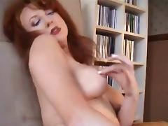 Vintage Mature, British, Lingerie, Masturbation, MILF, Redhead