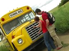 Bus, Bus, Redhead, Schoolgirl