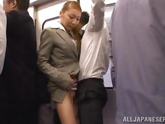 Bus, Asian, Bus, Handjob, Hardcore, Japanese