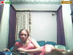 My first striptease webcam video