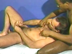 Tanned hairy gays are fucking in heads