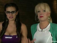 Tranny Joanna Jet Fucking Penny Barber's Pussy in Kinky Clip