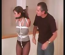 Asian Bondage Queen Akira Lane Tied Up and Ballgagged porn video