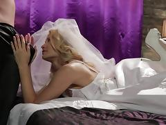 Bride, Blonde, Blowjob, Bride, Deepthroat, Kissing