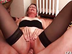 French mature slut getting hard fucked