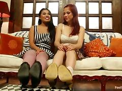 Cindy Starfall and Penny Pax Having Fun in Foot Fetish FFM Threesome