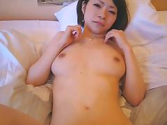 Japanese cute girl blow job and fuck