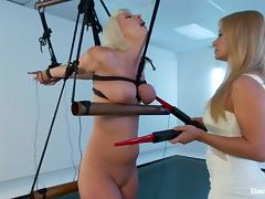 cherry torn gets an electric prod on her body