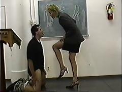 Ballbusting, BDSM, Classy, College, Femdom, Insertion