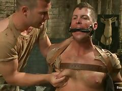 A gay gets his ass fisted deep and hard in hot BDSM scene