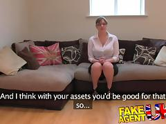 Office, Amateur, Audition, Big Tits, Boobs, British
