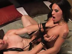 Martin Lorenzo gets stunningly fucked by lewd shemale TS Foxxy
