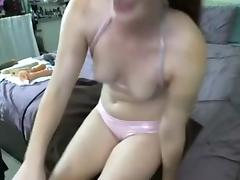 Fuck machine and a broad having fun