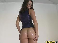 Oil, Anal, Assfucking, Blowjob, Couple, Cowgirl