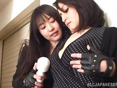 Japanese MILF Getting Her Pussy Toyed by a Kinky Lesbian Girl
