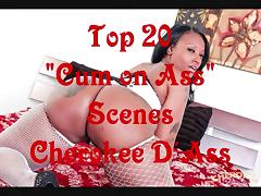 Cherokee D Ass Cum on Ass Compilation