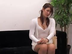 Adorable Jap rides a ramrod in hidden cam interview video porn video