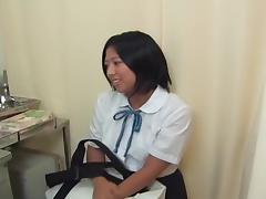 Lovely Japanese gal got her twat toyed at a gyno clinic
