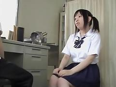 Asian hairy twat is drilled by me at the medical clinic