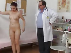 Hot Tarya King and old gynecologist porn video