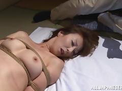 Reiko Sawamura gets her snatch toyed by a few horny dudes porn video