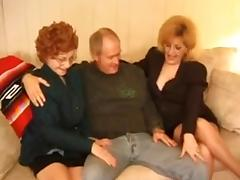 Kitty Fox and Granny Threesome porn video